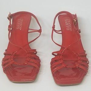 Franco Sarto Women's red heels size 6.5